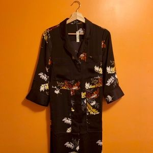 63aaad712005 Madewell Pants - satin pajama jumpsuit in blooming oasis